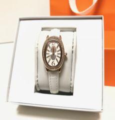 フォリフォリFolliFolliピンクゴールド白ベルト腕時計新品