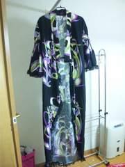 ゴスロリプッチ柄浴衣ドレス帯&扇子付き新品