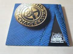 CHAGE&ASKA CD「CODE NAME 1」チャゲアス 飛鳥涼 初回●