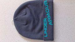 訳あり激安70%オフUA、アンダーアーマー、ロゴニット帽(新品、灰、フリー)