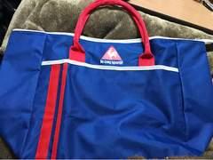 ★lecoq sportif  ブルー×赤トートバッグ★