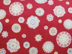 ルシアン 赤地花柄 50×110