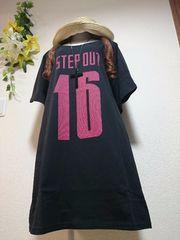 ★新品タグ10L★Tシャツチュニ(黒)
