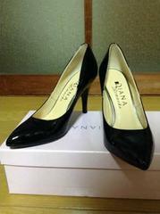 DIANA(ダイアナ)ロマーシュレモントゥパンプス21,5�p黒新品