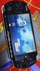 送料込みメモリースティック付PSP3000ブラック本体+バッテリー