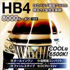 送料無料/8000LM/LEDフォグランプ{HB4}後方31mm小型ボディ/6500K