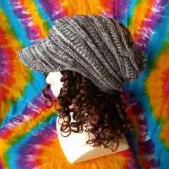 男女兼用♪厚手つば付きニット帽子◆カジュアルトレンド♪