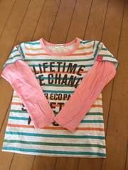 送料込み重ね着風Tシャツ