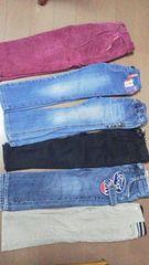 女の子ジーンズなどズボン110サイズまとめ売り6本