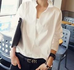 レディースシャツ ブラウス 白シャツ S~5XL/AK274