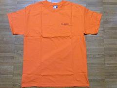 即決USA古着鮮やかロゴデザインTシャツ橙!ビンテージアメカジ