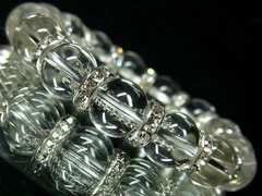 12mm水晶(クリスタルクォーツ)AAA天然石数珠ブレス