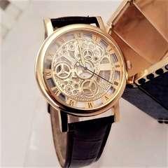 輸入時計★オリエンタルな透け文字盤★Gold腕時計WINNER