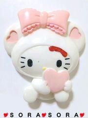 BIGデコパーツミニーマウス風キティ