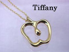 Tiffany K18YG アップル Apple ネックレス 新品仕上げ済 Z14★dot