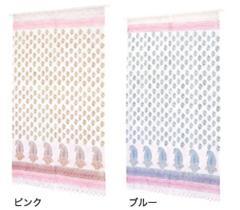 送料無料 フローラルペイズリー暖簾 のれん 間仕切り 装飾