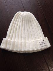 新品SUNNY48〜50白ニット帽ホワイト