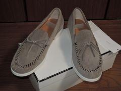新品ミスターハリウッドN.HOOLYWOODスエードローファー靴レザー