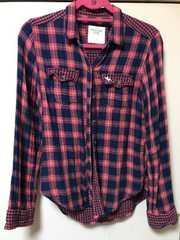 正規店購入!アバクロチェックシャツ S