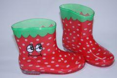 いちご柄子供用キッズレインブーツ/長靴16cmストロベリー/イチゴ