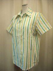 【クローズアップ】半袖ストライプのシャツです