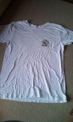 白シンプル半袖TシャツM160