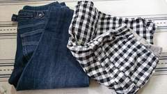 マタニティ☆ボトムス2枚セット☆ジーンズ☆ショートパンツ