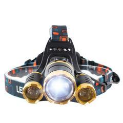 超高輝度LEDヘッドランプ 充電式電池2本付