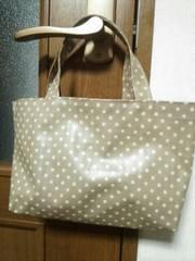 ハンドメイドラミネート カフェオレ色 miniバッグ