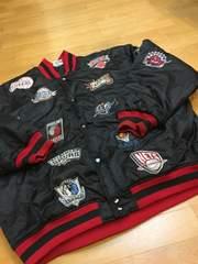 NBA  オールスター  総刺繍スタジャン  黒ブラック  size3XL  used