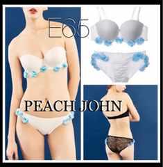 E65 2weyストラップレスブラ上下SET【新品タグ付き】PEACH JOHN