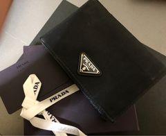 1スタ ☆ プラダ 折り財布 リボン カード付き