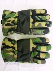 自衛隊迷彩柄★中綿入り★ビッグサイズ防寒手袋★未使用の新品★