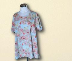 新品花柄Tシャツ4L大きいサイズ