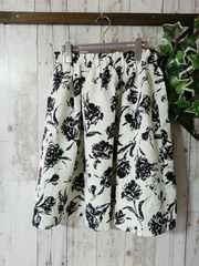 極美*ジャガード花柄フレアスカート*L〜3L4L*秋冬*大きいサイズ