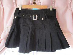KEYTH 黒プリーツ巻きスカート
