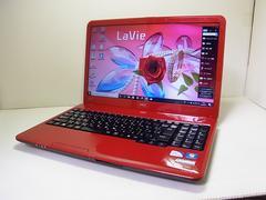 直ぐ使えるWindows10搭載 NEC LaVie 人気カラーレッド 1スタ