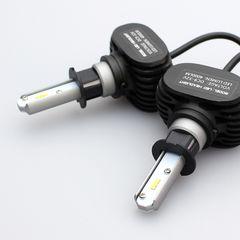 送料無料(H3)8000LM LEDヘッドライト 後方サイズ50mm小型ボディ 6500K