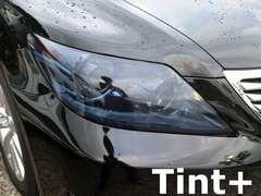 Tint+再利用できるレクサスLS460/LS600h中期 ヘッドライト スモークフィルム USF40