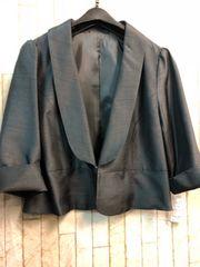 新品☆3L上品ジャケット風ボレロ パーティワンピに♪黒☆n390