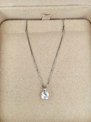 一粒ダイヤモンド ネックレス Pt900 0.368ct F SI-2 FAIR