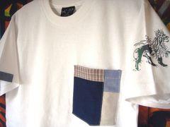 ジャーライオン パッチワーク ポケット Tシャツ レゲエ M