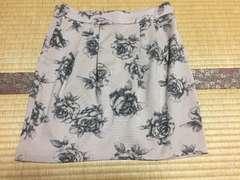 美品☆オゾック☆スカート☆ベージュ×黒☆36