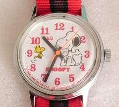 腕時計スヌーピー 手巻き  Q&Q シチズン製ビンティージ訳あり