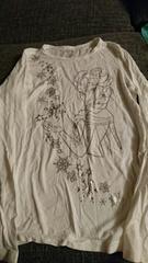 即決☆150�aユニクロアナ雪☆ヒートテック長袖Tシャツ