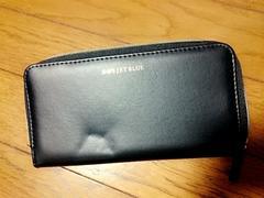 新品☆SHIPSシップス ジェットブルー上質レザー製本格長財布