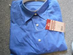 無印良品:女性用シャツ・レギュラー ブルーLサイズ