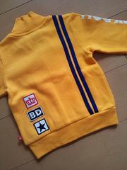新品2ラインジャケット100黄ベビドBABYDOLLベビードール