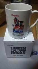 ルパン&コナンの絵入りのマグカップ♪非売品