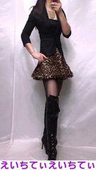 エロカワ小悪魔系 黒×レオパード チュチュ風ミニスカ 美脚スタイルUp! 美品♪�F~�H